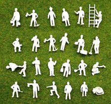 10 PCS Ho scale 1:87 Model Train layout unpainted White figures Railway Workers