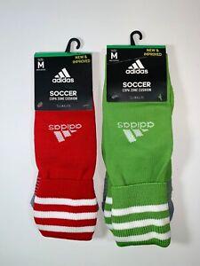ADIDAS Copa Zone Soccer Socks Climalite Red & Green Size Medium 5-8.5 Mens NEW