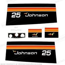 Johnson 1975 25hp Outboard Decal Kit - Discontinued Decal Reproductions in Stock