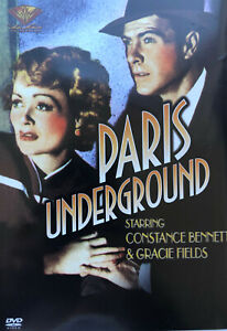 Paris Underground DVD World War 2 Drama Movie R1 Gracie Fields, Constance Bennet