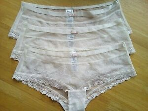 Blue /& Red Sheer floral pretty shorty New Pack of 5 Lace boyshorts Size 6 Black