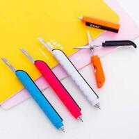 1X Multifunktions Kugelschreiber mit klappbarem Scherenlineal Schulbriefpap Z7N0