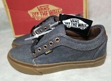 Vans New Chukka Low Oxford Denim Grey Gum Leather Low Skate Shoe Men Size 7.5