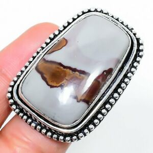 Polychrome Gemstone Handmade 925 Sterling Silver Jewelry Ring Size 7.5 Q947
