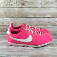 Nike Cortez Nylon Youth Size 3Y Hyper Pink White Athletic Walking Running Shoes