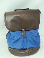 Disney Vacation Club Blue Brown Backpack Travel Bag Large Buckle Flap Zip Pocket