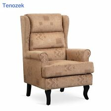 High Wingback Living Room Accent Chair in Beautiful Caviar Color
