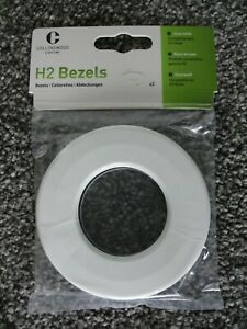 Collingwood Gloss White Twist and Lock Bezel Halers H2 Pro Ranges - 2 Pack