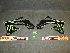 KAWASAKI KXF250 2009-2012 D COR MONSTER ENERGY grafiche + KIT PLASTICHE 10-20614