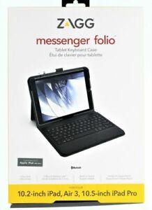 Zagg Messenger Folio Tablet Keyboard Case For Apple iPad 8th Gen NEW IN BOX