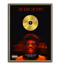 The Weeknd Poster, After Hours GOLD/PLATINIUM CD, gerahmtes Poster HipHop Rap