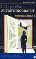 Interpretive Autoethnography by Norman K. Denzin 9781452299815 | Brand New