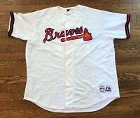 Andruw Jones  #25 Atlanta Braves Majestic MLB Baseball Jersey Size Medium