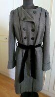 Dolce & Gabbana D&G military wool tweed women's coat jacket belt 32/46 UK14US10