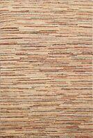 Striped Gabbeh Kashkoli Oriental Area Rug Hand-knotted Contemporary 3x4 Carpet