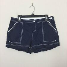 Nautica Size M Navy Blue Swimsuit Cover-up Pockets Shorts
