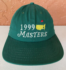 Vintage The Masters 1999 Golf Adjustable Hat Green American Needle NEW WITH TAGS