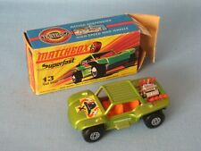 Lesney Matchbox Superfast 13 Baja Buggy with Fire Label Pre-pro? Trial Boxed