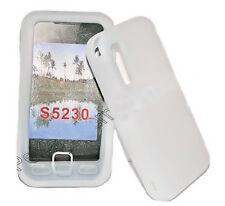 Silikon TPU Handy Cover Case Hülle Schale in Weiß für Samsung GT S5230