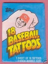 1986 Topps BASEBALL Tattoos Box of Unopened Packs
