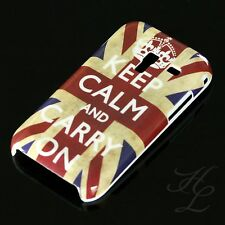 Samsung Galaxy Ace Plus s7500, FUNDA RÍGIDA, FUNDA, FUNDA PROTECTORA motivo estuche keep Calm Carry On