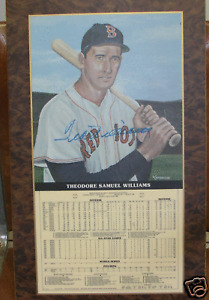 TED WILLIAMS - Autographed Career Stat Plaque PSA/DNA