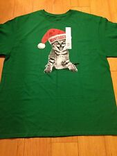 NWT Meowy Christmas kitty Holiday Time Party top shirt Sz XL