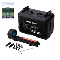 Holographic Red Green Fiber Optic Circle Dot Shotgun Sight Rib Rail Shooting Kit