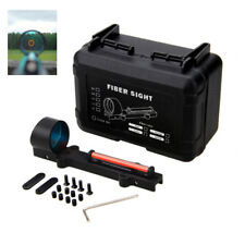 Holographic Red Green Fiber Optic Circle Dot Sight Rib Rail Shooting Kit