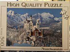 500 Piece Jigsaw Puzzle Neuschwanstein Castle Complete