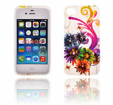 TPU gel silicone case cover Art white for Apple iPhone 4S / iPhone 4