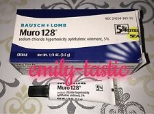 Bausch & Lomb Muro 128 5% Ointment 1/8 oz 3.5 g Expires JAN 2019 Damaged Box!