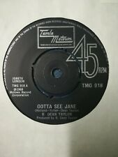 "R. Dean Taylor ‎– Gotta See Jane.(1974 MINT Vinyl 7"" Single) reissue"