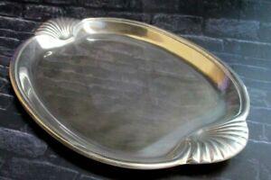 Wilton Armetale Bruce Fox Design Large Buffet Tray w/ Scallop Shell Handles NEW