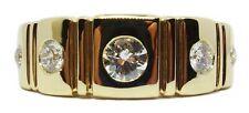 diamond .54ct right hand ring size 8.75 Unisex 14k yellow gold 9.10 gram 5 stone