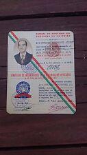 VTG 1956 RARE MEXICAN OBSOLETE WORKER ID-CHAMBER OF DEPUTIES-CAMARA DE DIPUTADOS