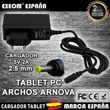Cargador para Tablet Pc ARCHOS ARNOVA 2000MAH WALL CHARGER 2.5mm 5v 2000mah 2A
