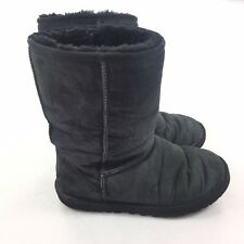 $160 UGGs Australia Classic Short Boots SIZE 8 Womens Solid Black Suede 3178