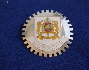 Chrome Morocco Grille Badge Bumper License Topper Accessory