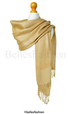 Gold Pashmina Shawl,Wrap,Scarf,CoverUp,Formal,Wedding,Prom,Gift,Party,Bridesmaid