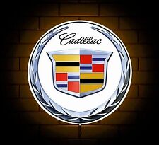 CADILLAC BADGE SIGN LED LIGHT BOX MAN CAVE GARAGE WORKSHOP GAMES ROOM BOY GIFT