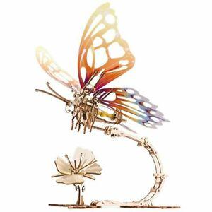 Ugears Butterfly Mechanical Wooden Model KIT - 3D puzzle, Self Assembling