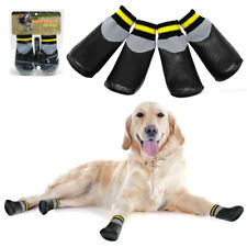 Waterproof Pet Dog Winter Shoes Non-Slip Socks Black Medium Large Dog Snow Boots
