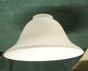 Lampenschirm 19 cm Durchmesser Farbe Weiß Überfangglas