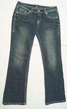 Ana A New Approach Womens Denim Blue Jeans Sz 10P Premium Boot Cut Stretch Bling
