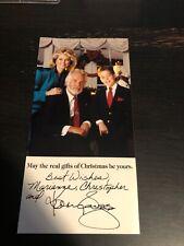 Kenny Rogers Fan Club Christmas Card Rare Facsimile