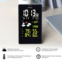 Wireless Weather Station Digital LCD Indoor Outdoor Thermometer Hygrometer
