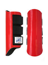 Davis Horse Boots Splint Brushing Jumping Classic Protection Red Medium
