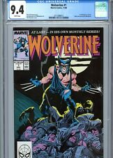 Wolverine #1 CGC 9.4 White Pages Marvel Comics 1988