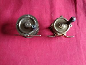 2 Small Brass Crank wind Fly Reels.
